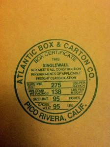 Balikbayan Box Makers Certificate